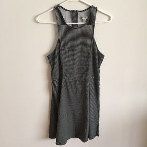 AEO Cut Out Striped Skater Dress